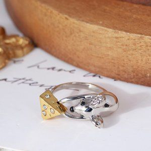Kate Spade Sweet Mouse Cheese Ring